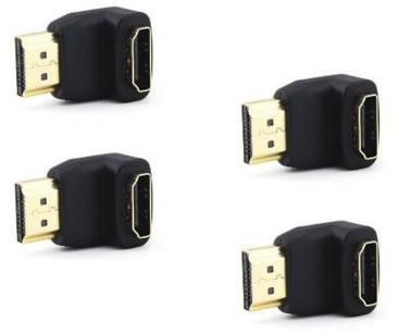 90 degree HDMI adapters